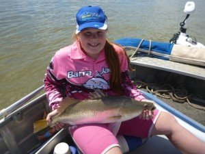 qld barramundi jr 1st danni creagh 300x225 - Pirtek Fishing Challenge: Catch a Big Fish and Support a Big Cause